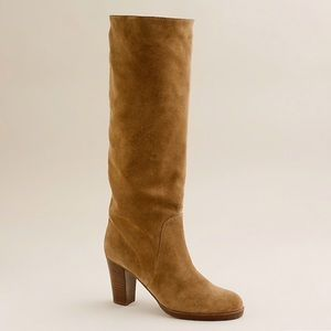 J Crew Quincy Tall Suede High Heeled Boots